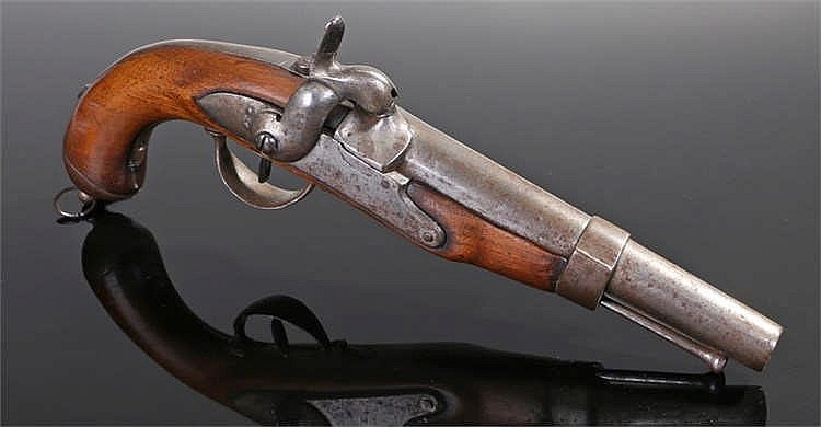 19th century continental percussion military pistol possibly Prussian - Sto