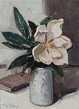 Roy Petley, Magnolia, Oil on canvas, Signed lower