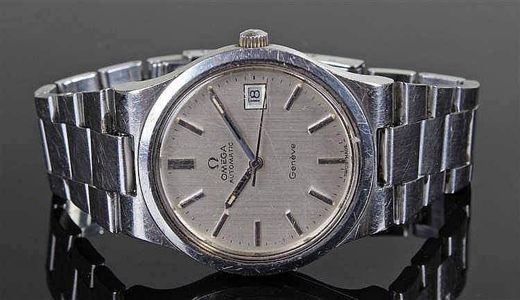 Omega Automatic Geneve stainless steel gentleman's wristwatch, the silvered