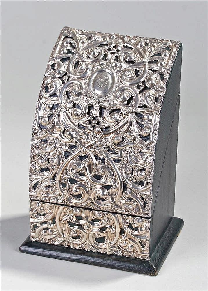 Edward VII silver letter box, Birmingham 1903, maker William Devenport, the
