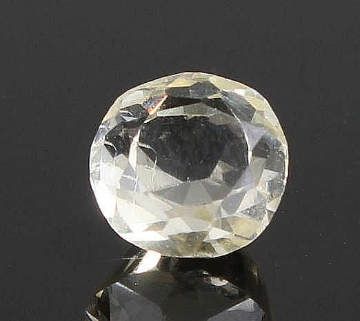 Unmounted yellow sapphire, at 1.64 carats
