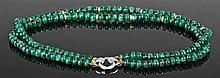 Impressive emerald and diamond necklace, the emerald necklace with approxim