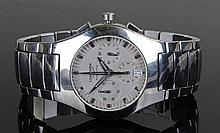 Longines Automatic gentleman's stainless steel chronograph wristwatch, the