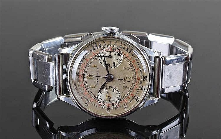 Berna Watch gentleman's stainless steel chronograph wristwatch, the signed