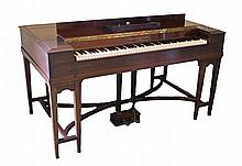 George Rogers square piano, the mahogany case with signed label raised on t