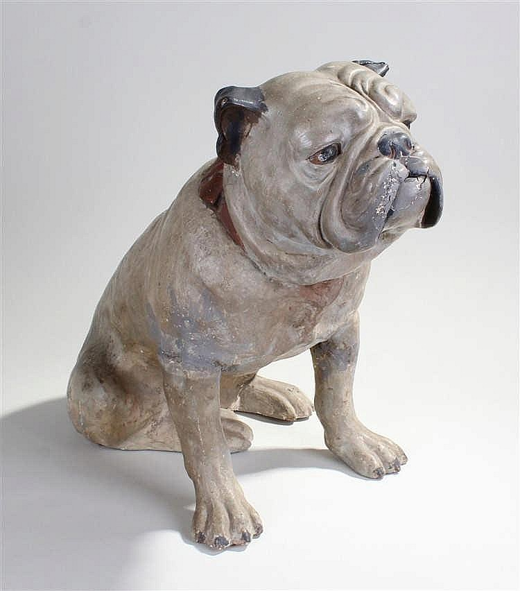 Rare late 19th Century Spillers life size advertising dog biscuit dog, the