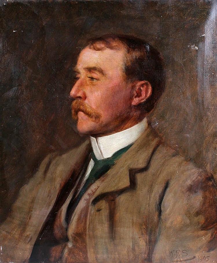 William Robert Symonds, (1851-1934) portrait of a gentleman, initialled W.R