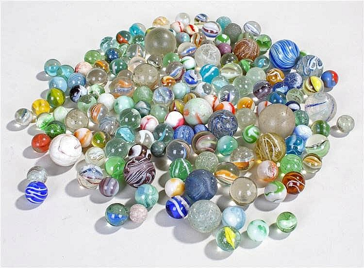 Large collection of 19th Century and later marbles, various colours and des