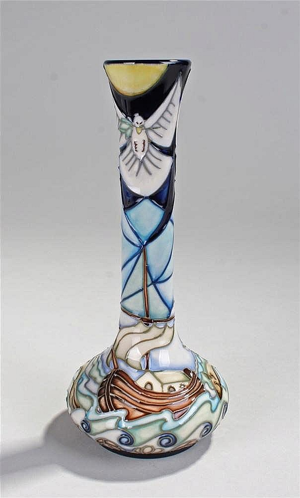 Moorcroft vase,  decorated in polychrome with arks at sea, marked LK 99, 21
