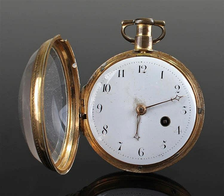George III, Richard Cole of Ipswich open face pocket watch, the case in gil