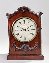 French gilt brass carriage clock, the corniche case with glass top, sides,
