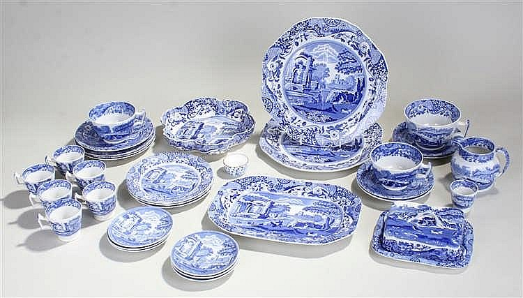 Collection of Spode tea and dinner wares, transfer decorated with Spode Ita