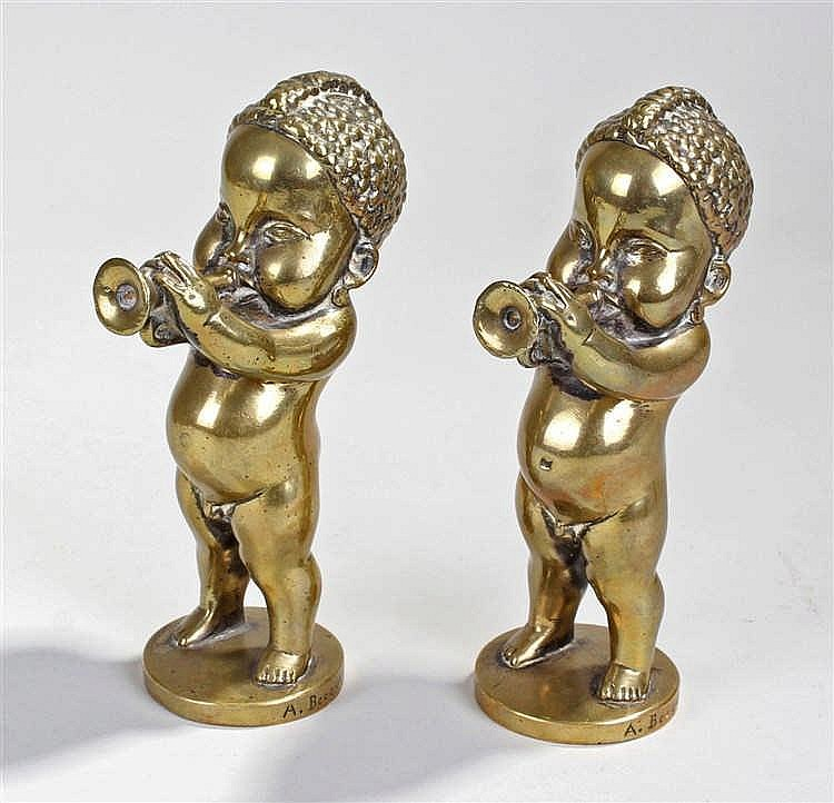 After Andre Vincent Becquerel, two Art Deco bronze car mascots in the form