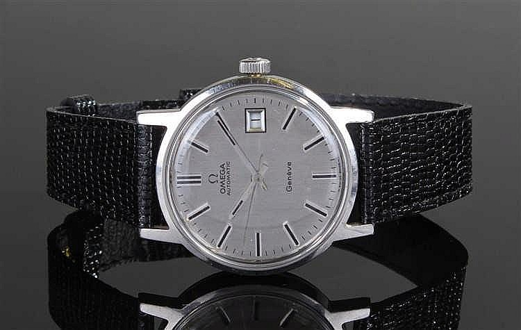Omega Automatic Geneve Gentleman's stainless steel wristwatch, the silvered