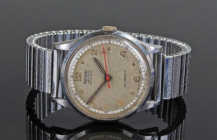 Rotary Maximus automatic gentleman's stainless steel wristwatch, the champa
