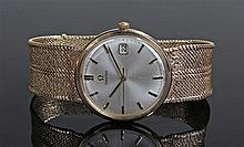 Omega gentleman's 9 carat gold wristwatch, circa 1960's the signed silvered