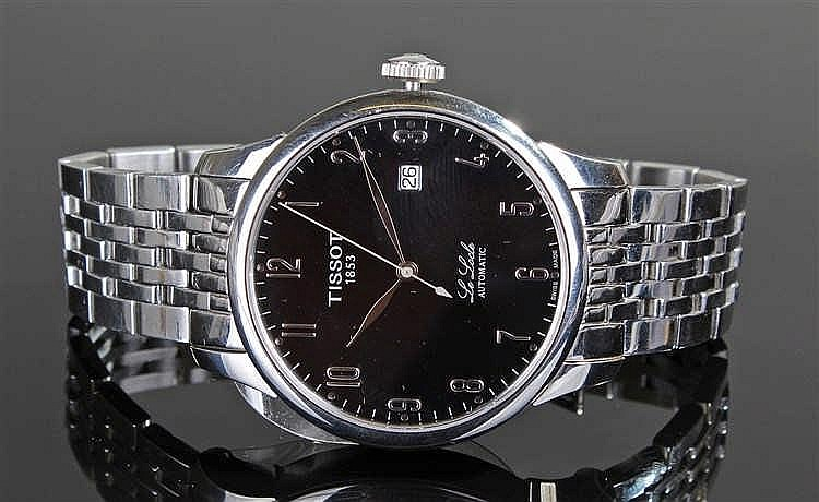 Tissot Le Locle Automatic gentleman's stainless steel wristwatch, the black