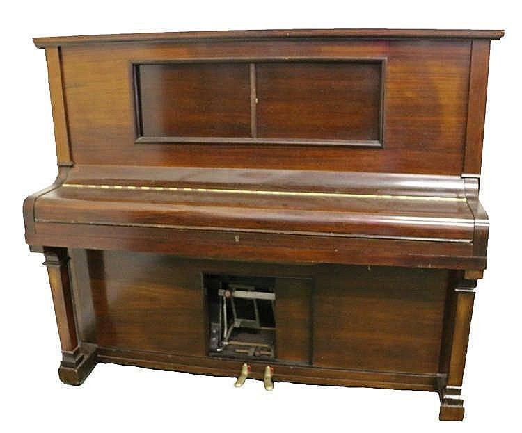 Moore & Moore pianola, the rosewood case of typical form, 155cm wide