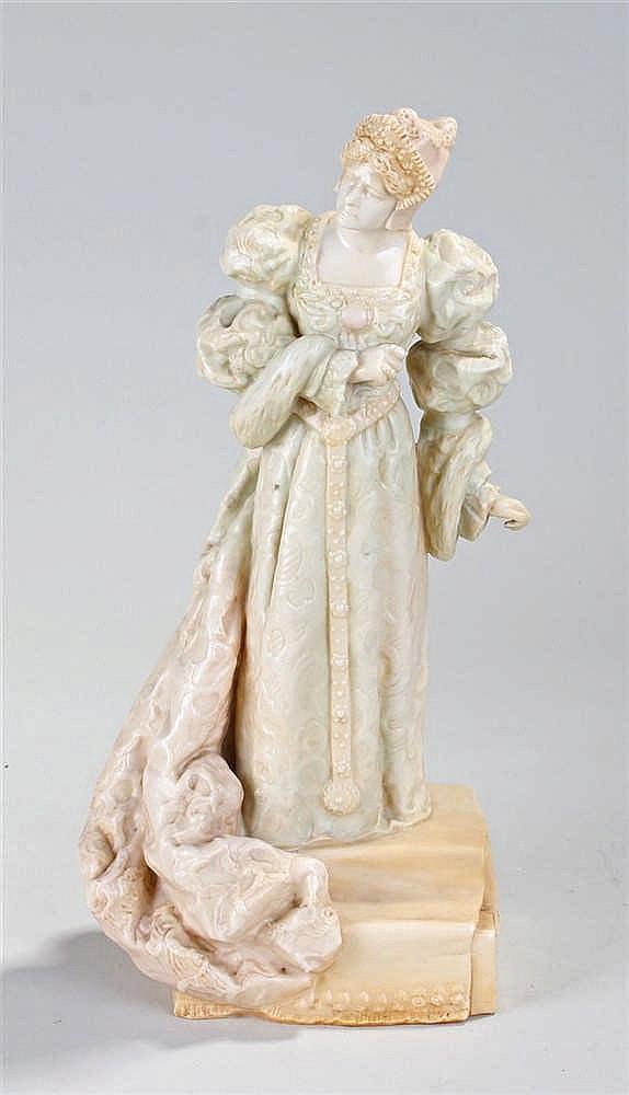 Charles Noke for Royal Doulton Ellen Terry vellum porcelain figure, modelle