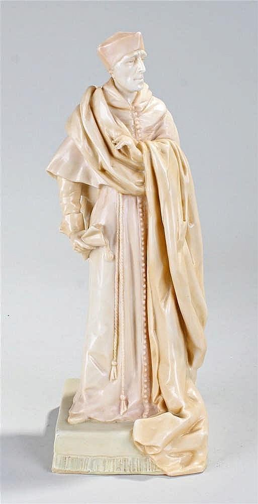 Charles Noke for Royal Doulton Burlsem Henry Irving vellum porcelain figure