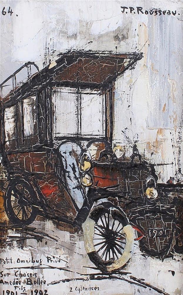 Jean Pierre Rousseau (1939-) Petit Omnibus Prive Sut chassis Amedee Bollee