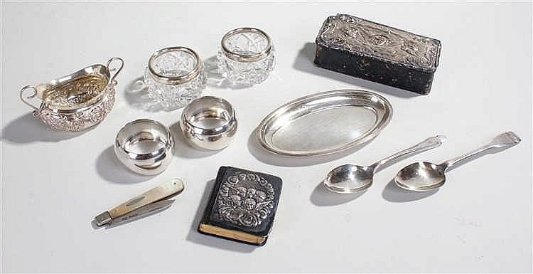Collection of silver, various dates and makers, to include a silver dish, a