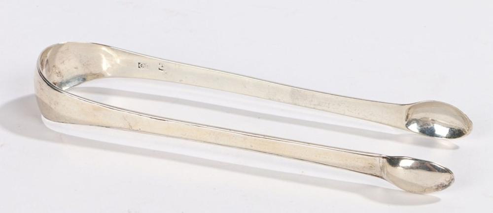 Pair of Inverness provincial silver sugar tongs, maker Charles Jamieson (active circa 1787-1819), th