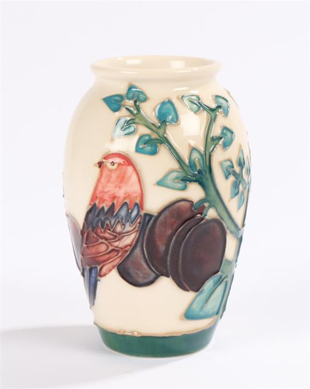 vase decorated moorcroft fruiting bird lot