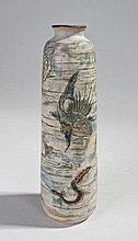 Martin Brothers pottery vase, decorated with exoti