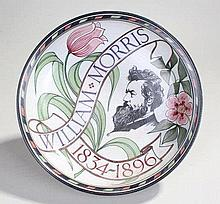 Pottery dish, the bowl with a profile of William M