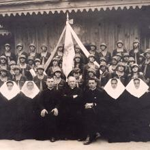 Original Photograph Showing Catholic Church Group in Poland - Signed