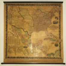 1857 Wall Map - Mitchell's New National Map Showing the United States & Etc.