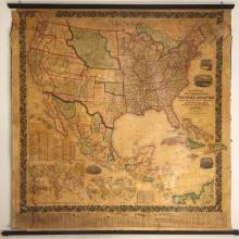1860 Wall Map - Mitchell's New National Map Showing the United States and Etc.