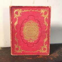 1846 Scriptural Autograph Album with Hand-Colored Floral Illustrations