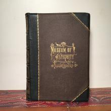 1881 Museum of Antiquity, Pristine Decoratively Bound Book with Engraved Illustrations