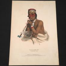 Waemboeshkaa Hand-Colored Lithograph, History of the North American Indian