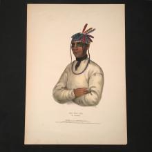 Caatousee Hand-Colored Lithograph, History of the North American Indian
