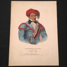 Tustennuggee Emathla or Jim Boy Hand-Colored Lithograph, History of the North American Indian