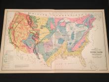 1881 Gray's Geological Map of the United States