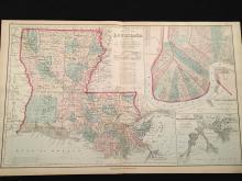1881 Gray'??s New Map of Louisiana