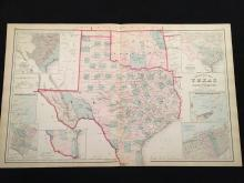 1881 Gray's New Map of Texas and Indian Territory