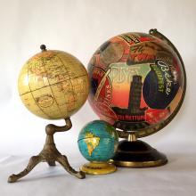 Unique Travel Sticker Illuminated Glass Globe