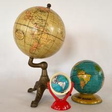 Rare Terrestrial Globe / Dated 1927 Geographic Educator Globe / Solid 6 Inch Alternate Version