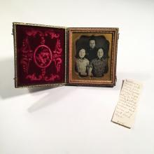 Daguerreotype of Identified Siblings Including a Casualty of the Civil War
