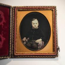 Tinted Daguerreotype of a Handsome Young Lad