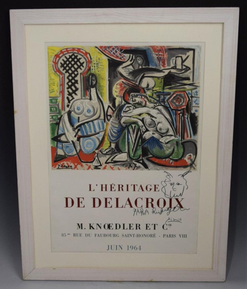 Pablo Picasso, Exhibition Poster, Signed (w/sketch)