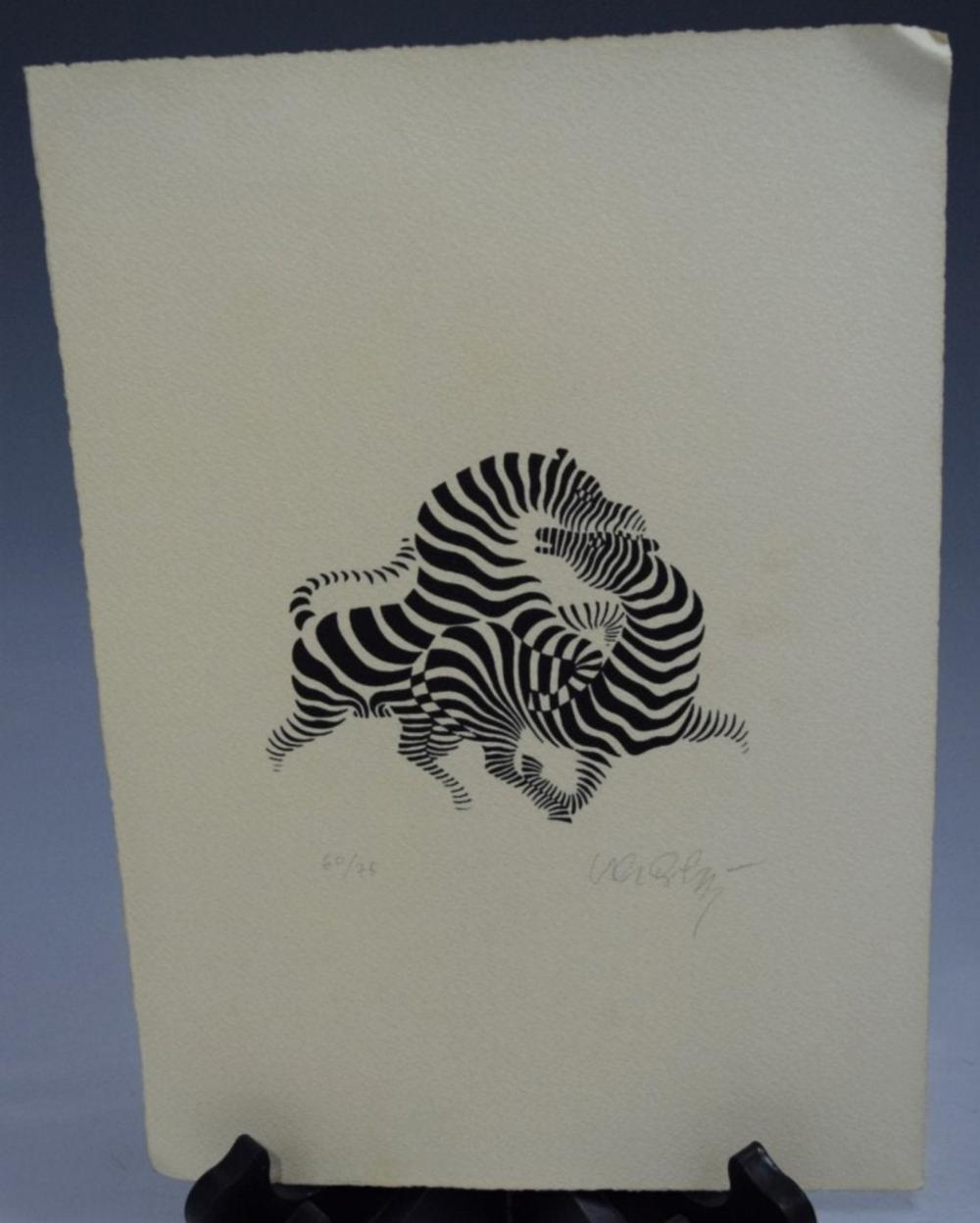 Victor Vasarely, Etching (Signed)