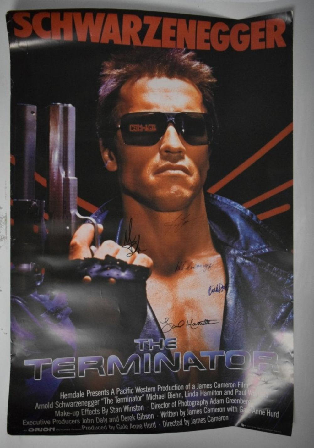 Terminator Movie Poster (Signed by Cast)