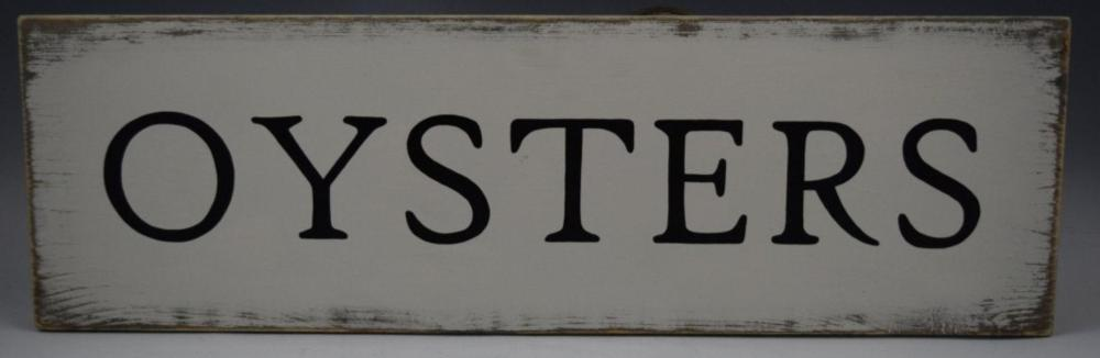 Oysters Sign (Advertising)