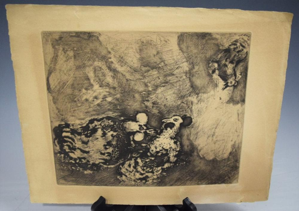 Marc Chagall, Etching on Paper